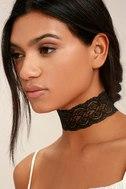 Lace Goals Black Lace Choker Necklace 1