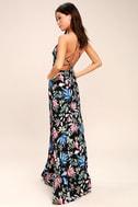 Loving Ways Black Floral Print Maxi Dress 3