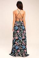 Loving Ways Black Floral Print Maxi Dress 4