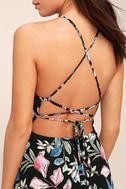 Loving Ways Black Floral Print Maxi Dress 5