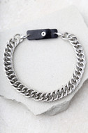 Chain Letter Silver Choker Necklace 2