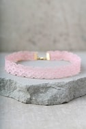 Main Squeeze Blush Pink Choker Necklace 1