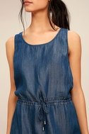 Olive & Oak Adley Dark Blue Chambray Dress 5