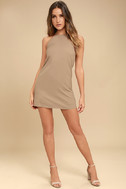 Endlessly Endearing Taupe Dress 2