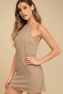 Endlessly Endearing Taupe Dress 3