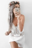Exotic Locale White Crocheted Cover-Up 7