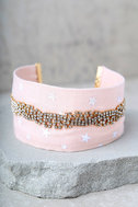 Ettika Stargazer Pink Rhinestone Choker Necklace 2