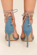 Kensey Denim Lace-Up Heels 4