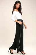 Tavik Purcell Black Wide-Leg Pants 1