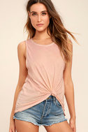 Project Social T Easy Rider Blush Pink Tank Top 1