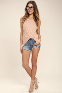 Project Social T Easy Rider Blush Pink Tank Top 2