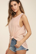 Project Social T Easy Rider Blush Pink Tank Top 3