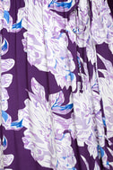 Lucy Love Raw Beauty Purple Floral Print High-Low Dress 6