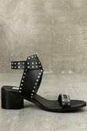 Steve Madden Gila Black Studded Ankle Strap Heels 4