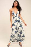 Perfect Memory White Floral Print Maxi Dress 2