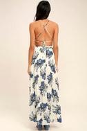 Perfect Memory White Floral Print Maxi Dress 4