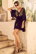 Belize in Magic Black Embroidered Dress 2