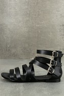 Neria Black Gladiator Sandals 2