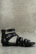 Neria Black Gladiator Sandals 4