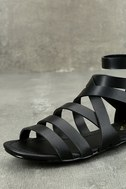Neria Black Gladiator Sandals 6