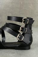 Neria Black Gladiator Sandals 7
