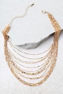 Modern Melody Gold Layered Choker Necklace 2