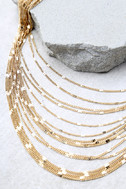 Modern Melody Gold Layered Choker Necklace 3