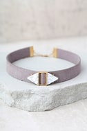 Too Cool Grey Choker Necklace 1