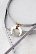 Positive Prediction Grey Wrap Necklace 2