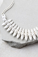Captivated Silver Choker Necklace 3