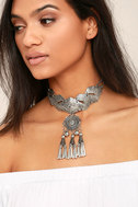 Spirit Song Silver Statement Necklace 1