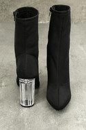 Antoinette Black Lucite Mid-Calf Boots 3