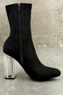 Antoinette Black Lucite Mid-Calf Boots 4