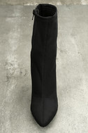 Antoinette Black Lucite Mid-Calf Boots 5