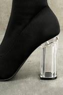Antoinette Black Lucite Mid-Calf Boots 7
