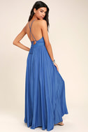 On My Own Blue Maxi Dress 4