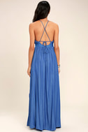 On My Own Blue Maxi Dress 5