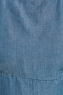 Monterey Bay Blue Chambray Midi Dress 6