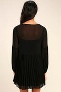 Aim to Pleats Black Long Sleeve Dress 4