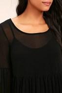 Aim to Pleats Black Long Sleeve Dress 5