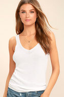 Weather Report White Tank Top 1