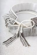 New Friends Colony Saree Ivory Beaded Choker Necklace 4