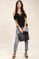 Sing It Now Black Off-the-Shoulder Top 2