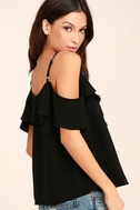 Sing It Now Black Off-the-Shoulder Top 3