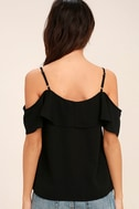 Sing It Now Black Off-the-Shoulder Top 4