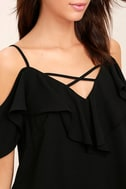 Sing It Now Black Off-the-Shoulder Top 5