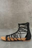 Jora Black Gladiator Sandals 2