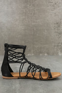 Jora Black Gladiator Sandals 4