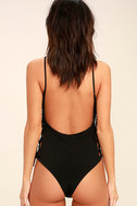 Exception to the Rule Black Lace-Up Bodysuit 5