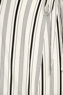 Vacay Bae Black and White Striped Wrap Maxi Skirt 6